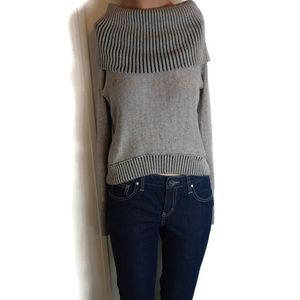 American Eagle Cowl Neck Shoulder Sweater XS
